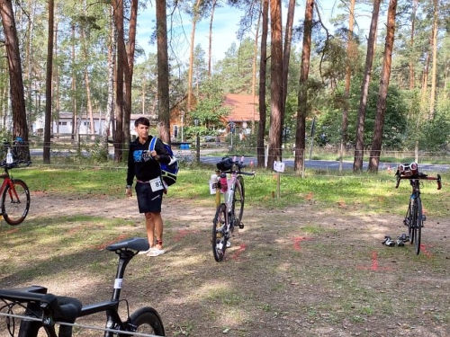 Spreewald Duathlon – Sandra am Start